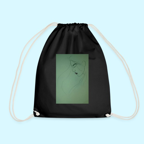 side profile - Drawstring Bag