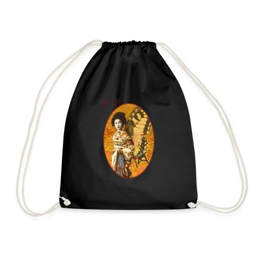 Vintage Japanese Geisha Oriental Design - Drawstring Bag