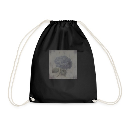 Blue Flower Boquet - Drawstring Bag