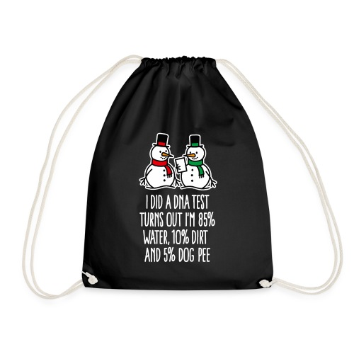 Laboratory technician DNA test funny Christmas DNA - Drawstring Bag