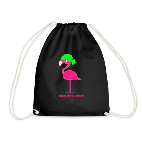 Green Afro Haired Flamingo - Jumppakassi