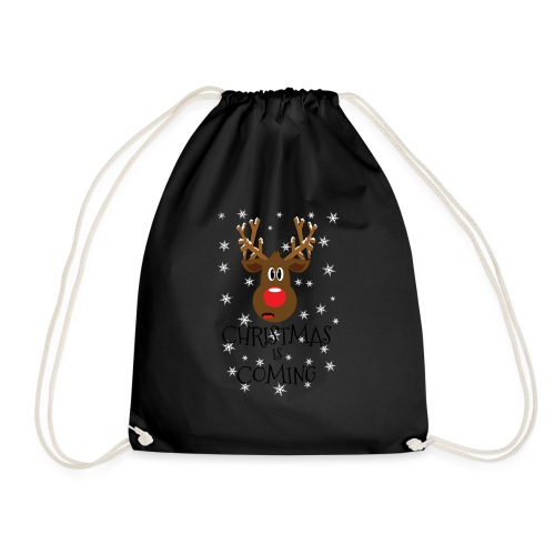 Christmas is coming snow - Drawstring Bag