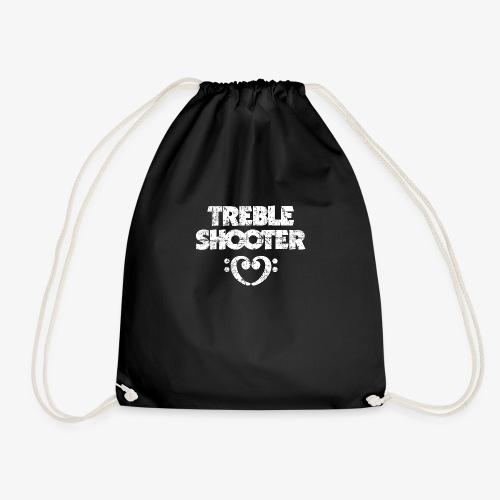 Treble Shooter Bass mit Herz (Vintage/Weiß) - Turnbeutel