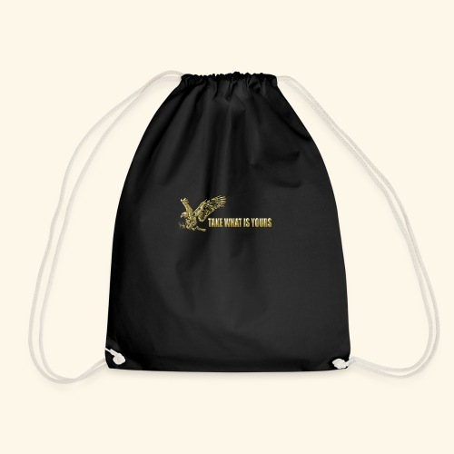 take what is yours gold,eagle,adler,traning - Mochila saco