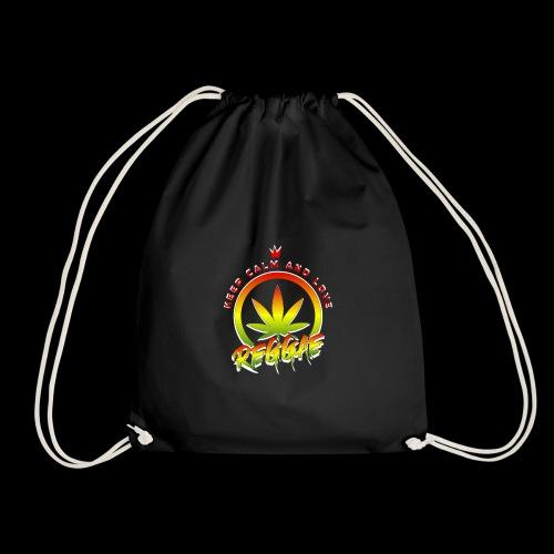 KEEP CALM LOVE REGGAE wht edge - Drawstring Bag