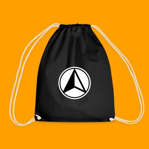 Black and White logo - Drawstring Bag