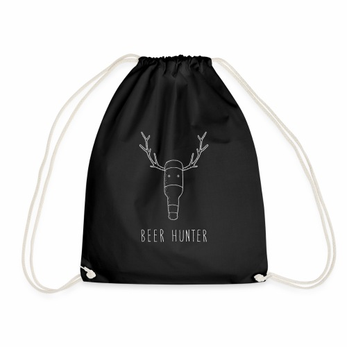 Beer Hunter - White Trophy - Special edition. - Drawstring Bag