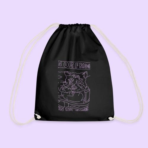 Vegan Cat - Drawstring Bag