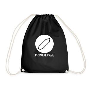 Crystal Cave Logo bianco - Sacca sportiva