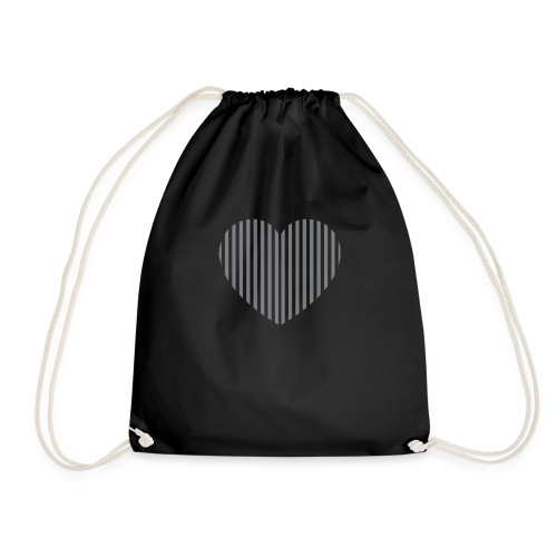 heart_striped.png - Drawstring Bag