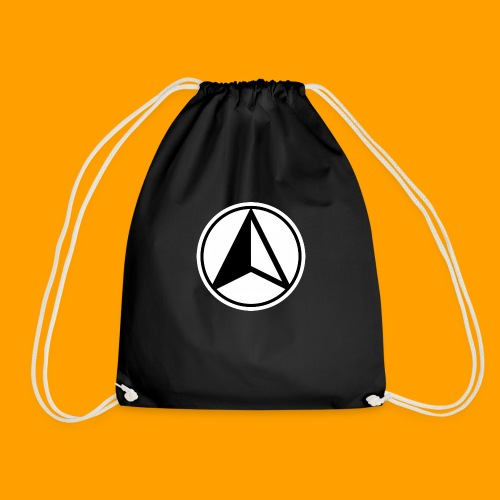 Black and White logo - Drawstring Bag