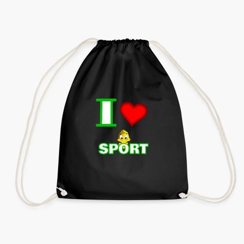 Ich liebe Sport - Turnbeutel