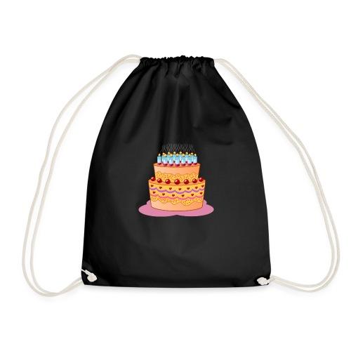 birthday cake - Turnbeutel