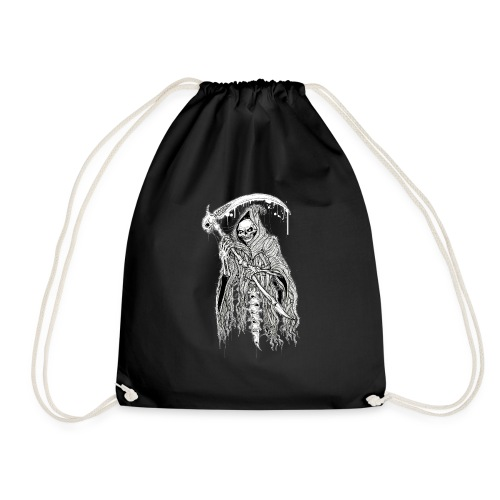 DEATH black - Drawstring Bag