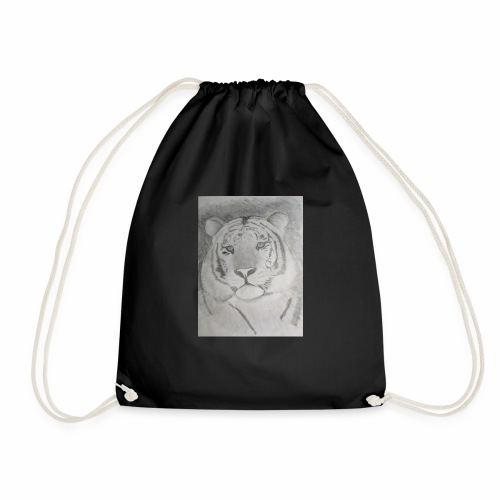 tiger art - Drawstring Bag