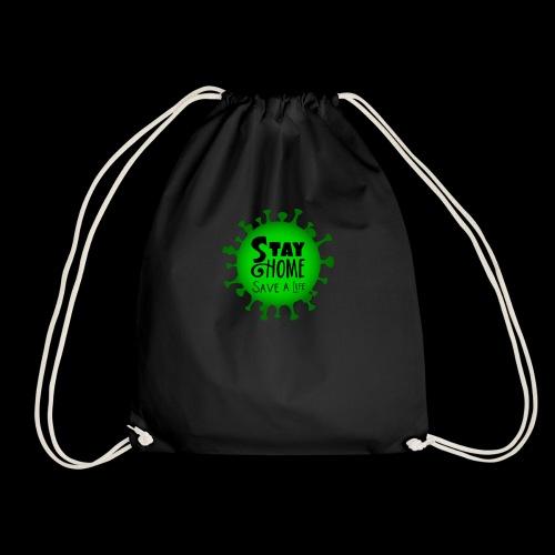 stay at home 5011005 960 720 - Drawstring Bag