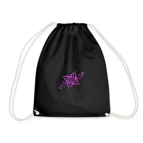 Tribal Flower - Drawstring Bag