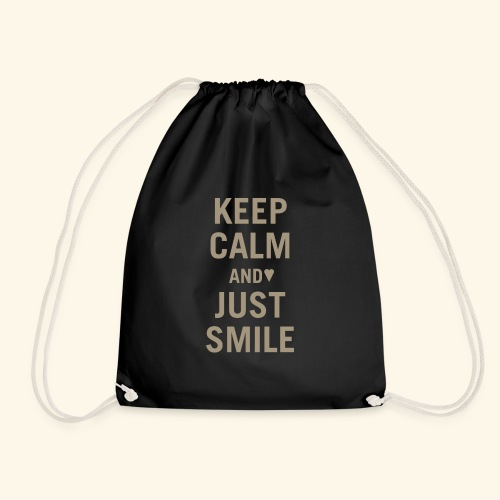 Keep calm and just smile - gold - Turnbeutel
