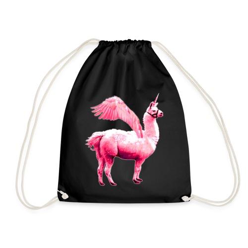 Pelahorn pinkes Pegasus Lama Einhorn - Turnbeutel