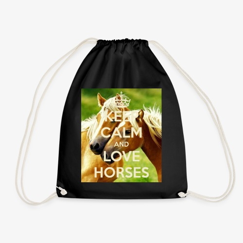 Keep Calm and love horses - Gymtas