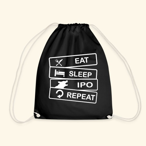 Hundesport T-Shirt IPO Eat Sleep Repeat - Turnbeutel
