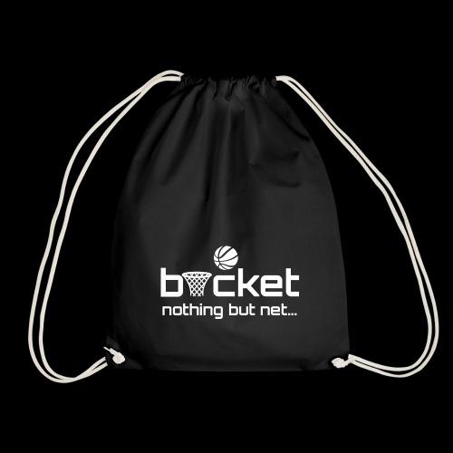buck strap white.png - Drawstring Bag