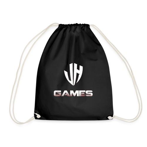 JH GAMES logo wit uitvoerig - Gymtas