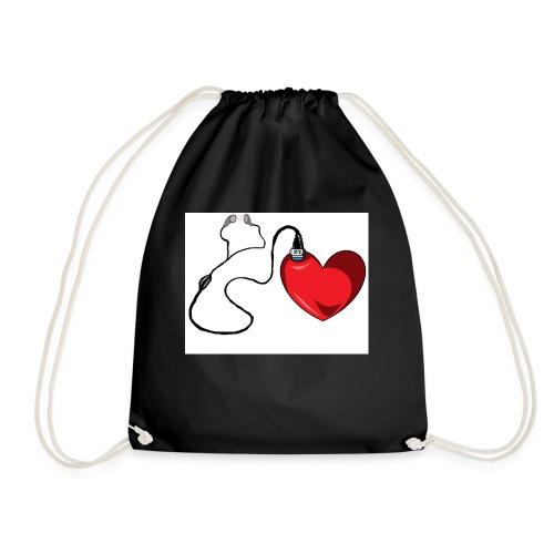 corazón con audífonos llenos de amor - Mochila saco