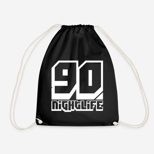 90 NIGHTLIFE (logo bianco) - Sacca sportiva