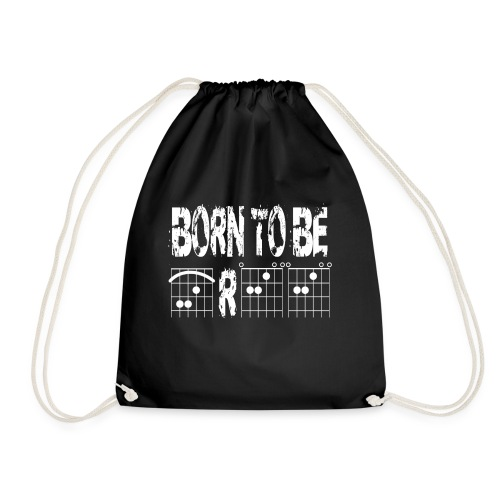 Born to be free in guitar chords - Drawstring Bag