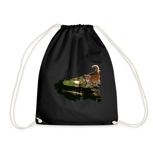 Cats meet Koi - Drawstring Bag