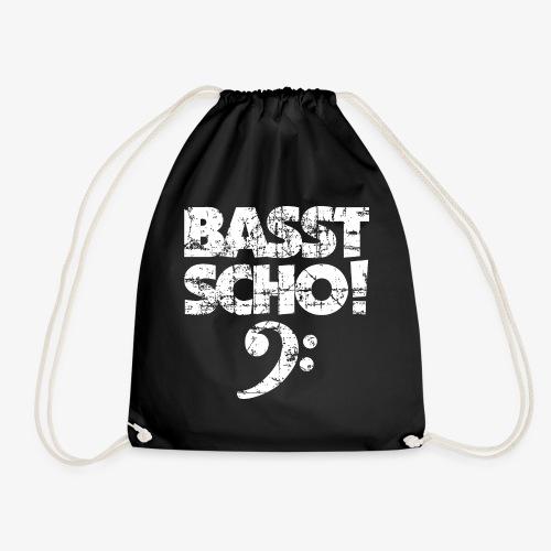 BASST SCHO! Bass Spruch für Bassisten - Turnbeutel