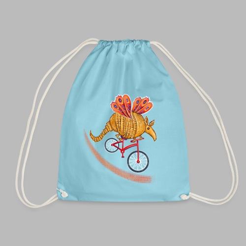 Flying Armadillo - Drawstring Bag