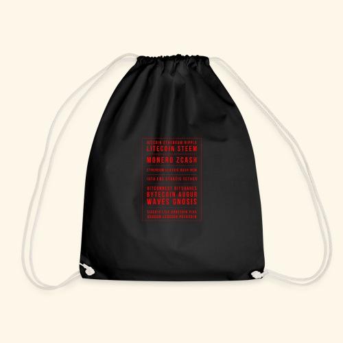 BITCOIN MONERO ZCASH - Drawstring Bag