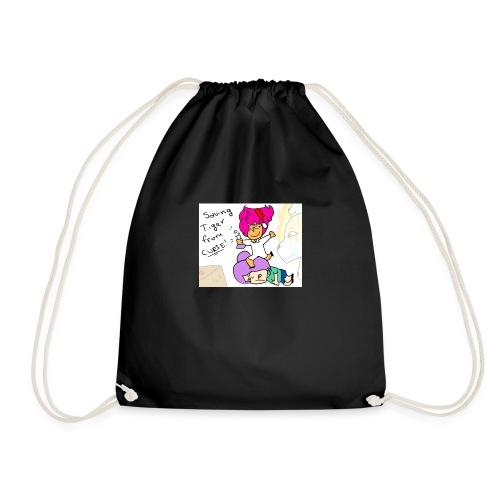 Saving Tiger Toast From Curse! - Drawstring Bag