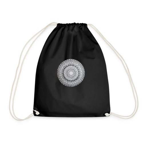 Mandala Black and White - Turnbeutel