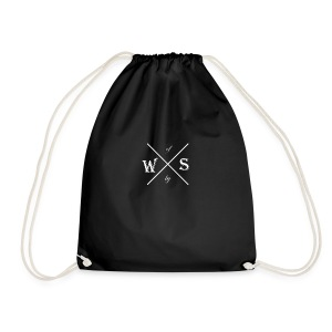 Waste of Space by X logo white - Gymbag