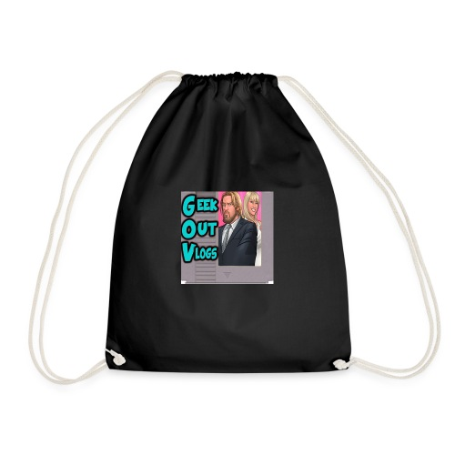 GeekOut Vlogs NES logo - Drawstring Bag