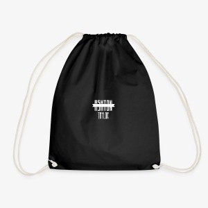 AshtonTaylor Merch Logo Modern White - Drawstring Bag