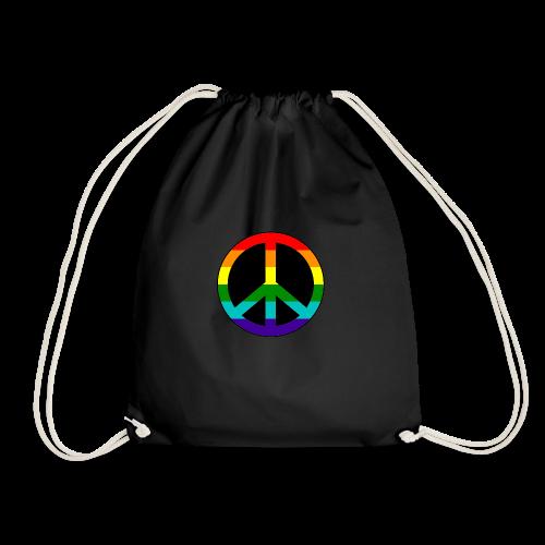 Gay pride peace symbool in regenboog kleuren - Gymtas