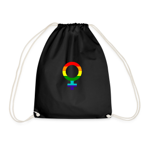 Gay pride regenboog vrouwen symbool - Gymtas