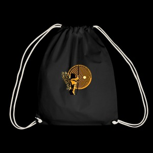 close your eyes - Drawstring Bag
