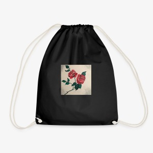 dyed roses - Drawstring Bag