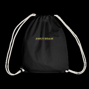 Amsterdam in gay pride rainbow kleuren - Gymtas