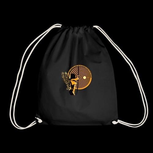 close your eyes - Drawstring Bag