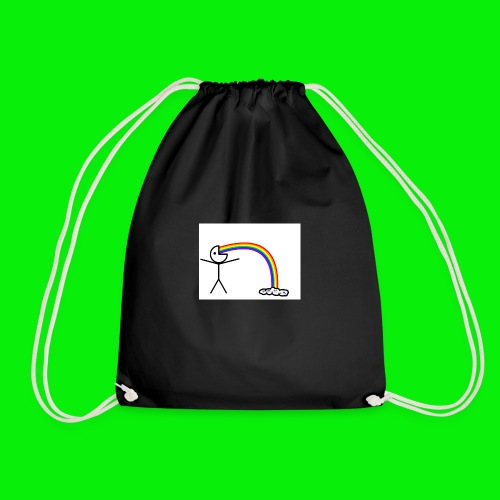 Me on rainbows - Drawstring Bag