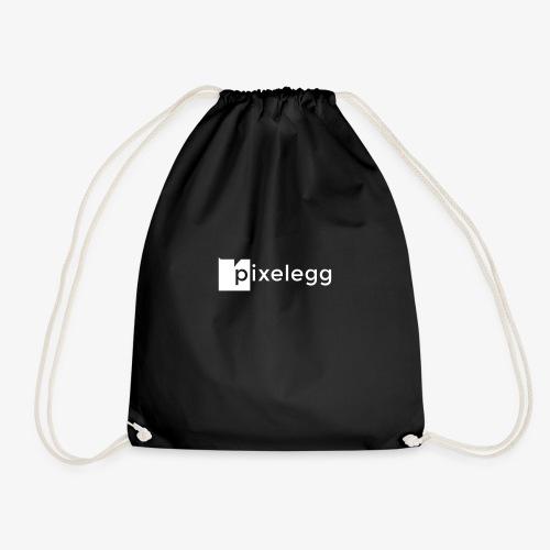 pixelegg Logo Weiss - einfärbbar!!! - Turnbeutel