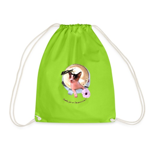 Ready for a cappuchino? - Drawstring Bag