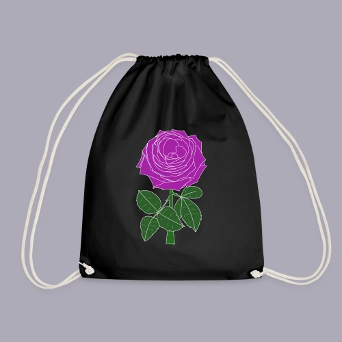 Landryn Design - Pink rose - Drawstring Bag
