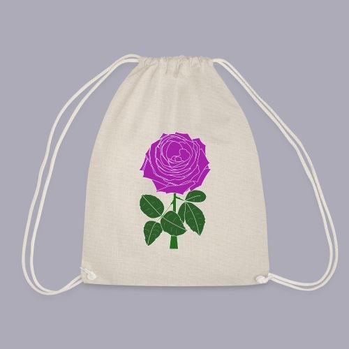 Landryn Design - Pink rose - Drawstring Bag